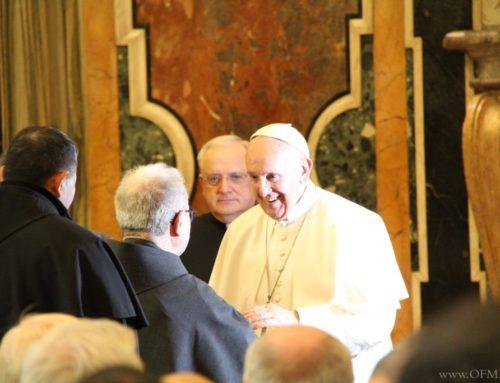 Popiežius Pranciškus broliams audiencijoje: būkite mažesnieji