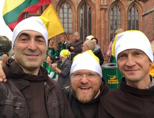 Broliai pasitiko popiežių Pranciškų ir dalyvavo susitikimuose su juo