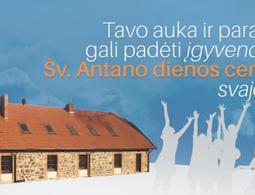 Tavo auka ir parama gali padėti įgyvendinti Šv. Antano dienos centro svajonę