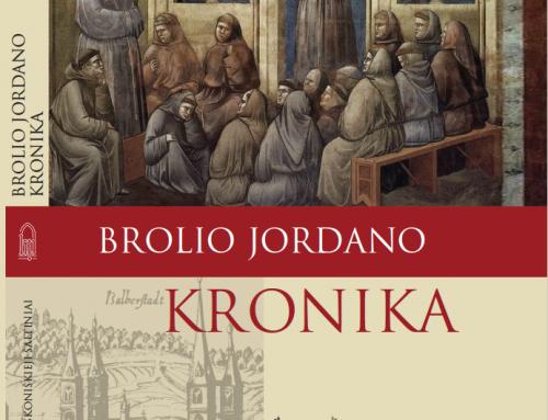 """Vilniaus knygų mugėje bus pristatyta """"Brolio Jordano kronika"""""""
