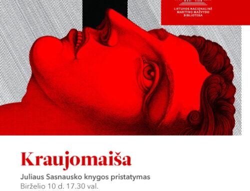 """Juliaus Sasnausko knygos """"Kraujomaiša"""" pristatymas"""