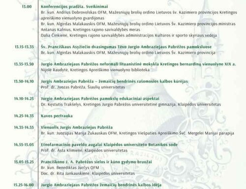 Mokslinė-praktinė konferencija, skirta J. A. Pabrėžos metams paminėti